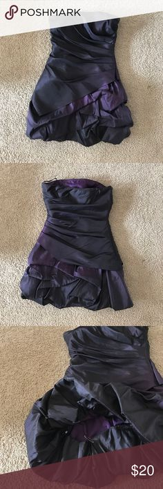 Formal cocktail dress Purple, iridescent, strapless dress. The hem is safety pinned underneath to make the dress shorter. Only worn once. Onyx Dresses Strapless