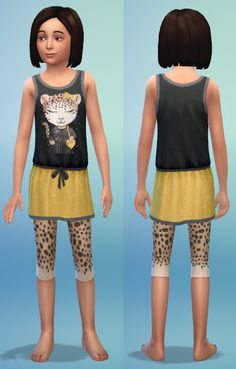 Tops, shoes and dress for kids by bienchen83 at Sim2me via Sims 4 Updates