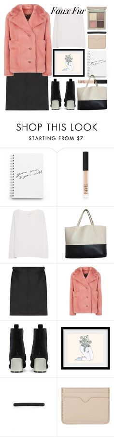 """""""hello, winter!"""" by foundlostme ❤ liked on Polyvore featuring NARS Cosmetics, Juvia, Gérard Darel, Burberry, Valfré, Ilia, L. Erickson, Alexander McQueen and fauxfur"""