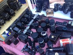 I'm just geeing out at all the cool old lenses...