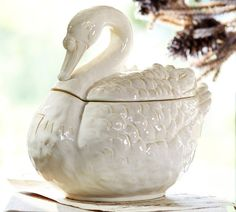 Seven Swans Swimming Soup Tureen