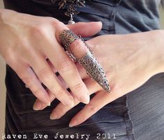 Armor Ring Gothic Flourish Filigree One ring Quality Handmade Raven Eve Jewelry Original Design