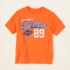 boy - graphic tees - first down graphic tee | Children's Clothing | Kids Clothes | The Children's Place