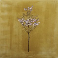 Tree of the Golden Blossom  Oil and acrylic on canvas, 80 x 80 cm  Javier Marchán, 2006