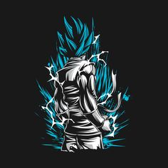 Awesome 'Super+Saiyan+Goku+-+TS00020' design on TeePublic!