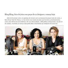 Joias Renata Rose hoje no Globo Zona Sul