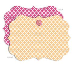 Personalized Apricot Tile Stationery