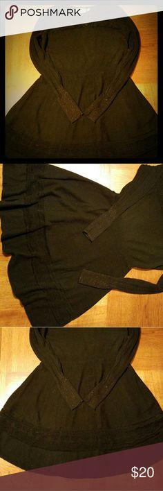 Sz XL Petite Vera Wang Sweater Dress Black Vera Wang Sweater Dress. Very good condition. Vera Wang Dresses Long Sleeve