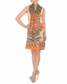 RITU KUMAR Orange & White Floral Tunic $106