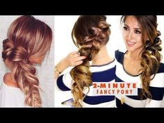 2-MINUTE Fancy Pony-Braid Hairstyle ★ Easy SCHOOL HAIRSTYLES - YouTube