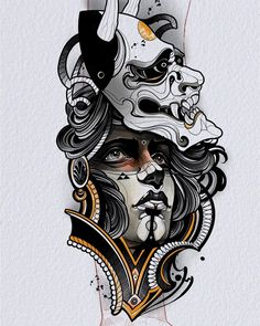 Best Japanese Tattoo Artwork Ideas on 2020 - Japan is home to some of the most incredible and detailed Japanese tattoo art. However, it's diffi - Traditional Japanese Tattoo Sleeve, Japanese Tattoo Koi, Japanese Tattoo Sleeve Samurai, Japanese Tattoo Meanings, Japanese Tattoo Designs, Neo Traditional Tattoo, Japanese Art, Oni Tattoo, Samurai Mask Tattoo