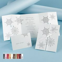 Winter Wonders - Invitation | Invitations By Dawn. LOVE this! More cost effective than the previous one I posted, and still nice!