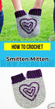 crochet Smitten Mitten free pattern for the home inspiration Crochet Mittens Pattern, Crochet Cozy, Easy Crochet Patterns, Crochet Designs, Crochet Crafts, Crochet Hooks, Crochet Projects, Crochet Ideas, Tutorial Crochet