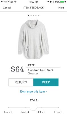 Fate Goodwin Cowl Neck Sweater I want this sweater so bad! Kari - make it happen!!