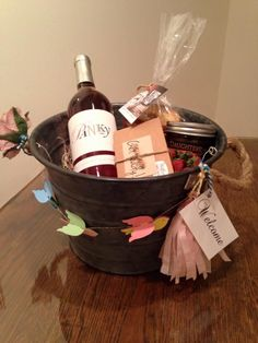 Welcome Basket for a Bachelorette party