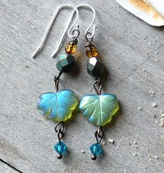 Hey, I found this really awesome Etsy listing at http://www.etsy.com/listing/109542800/fluttering-glass-leaf-earrings