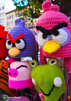 Angry birds!  This is an INSTRUCTIONAL VIDEO for this project....NOT A WRITTEN PATTERN