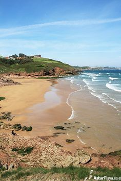 The First Beach of Xivares in Asturias, Spain on a spring day.
