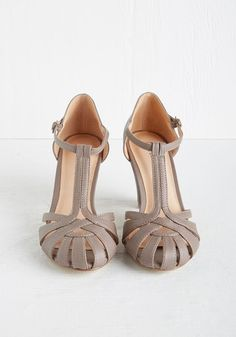 There Chic Goes Heel in Mauve | Mod Retro Vintage Heels | ModCloth.com