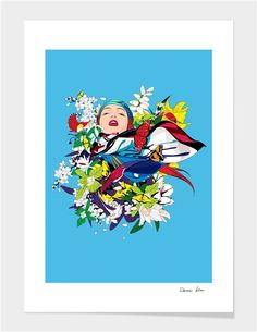 """blossom woman"" - Exclusive Art Print by Wonman Kim for Curioos"
