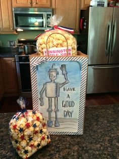 Martin Cares Fundraiser in Exeter NH in July 2016 Kensington Kettle Corn Gift Bags