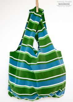 DIY: no-sew tote bag from a t-shirt