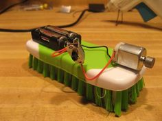 Bristle bot (hexbug like toy) from Dollar Store and cheap parts. No soldering!