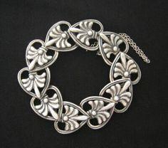 Bracelet | Margot de Taxco. Sterling silver. circa-1948. Taxco, Mexico