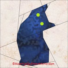 Maartje Quilts in Amsterdam: Bath time Paper Pieced Quilt Patterns, Quilt Block Patterns, Quilt Blocks, Quilting Projects, Quilting Designs, Halloween Quilts, Animal Quilts, Foundation Paper Piecing, Quilt Making