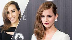GIF Guide: Three Easy Steps to a Deep Side Part Like Emma Watson's