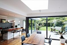 kitchen dining glass extension home