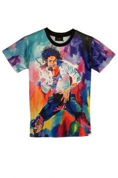 #Purple #Michael Jackson Singing Printed #Vintage Womens T #Shirt