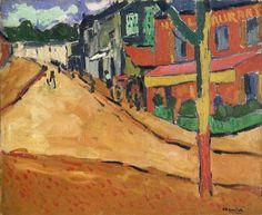 Maurice de Vlaminck, Rue à Port-Marly, 1905 on ArtStack #maurice-de-vlaminck #art