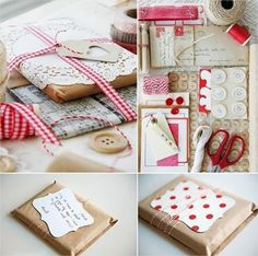 geschenke verpacken mit backpapier