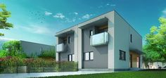 Viviendas pareadas de 4 dormitorios, hasta 260 m2, en parcelas de 252 m2.  #hogar #casa #construcción #vivienda #house #home #life #inspiration #arquitectura #architect #architecture #design #designer #instahome #instadesign #diseño #decoración #deco #decoration #terraza