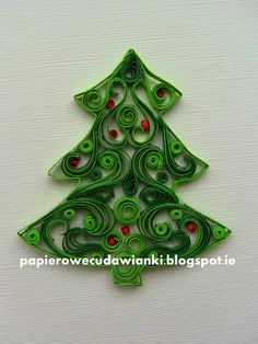 Part 4 of 4---written directions on post---To co robię i co lubię: Quilling-jak zrobić choinki z papieru How to make a Christmas tree with paper