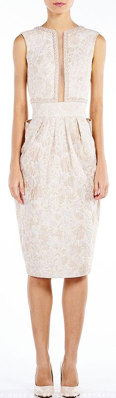 Sebastian Gunawan - Clare Cream Blended Dress