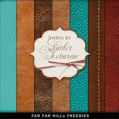 New Freebies Kit of Backgrounds - Leather Texture