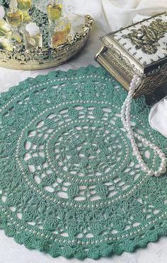 Jade & Pearl Doily Crochet Pattern - Beaded Doily