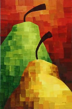 Pears by Jeff Szuc  This would make a cool quilt or mosaic