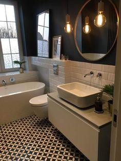 Most Popular Small Bathroom Design Ideas for 2019 - Small Style.Most Popular Small Bathroom Design Ideas for 2019 - Small Style.Most Popular Small Bathroom Design Ideas for 2019 - Small Style. Blue Bathroom, Bathroom Colors, Bathroom Flooring, Bathroom Interior, Amazing Bathrooms, Trendy Bathroom, Bathrooms Remodel, Bathroom Makeover, Tile Bathroom