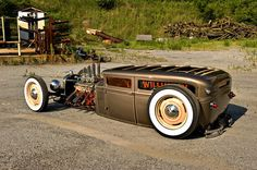 very chopped and very dropped hotrod