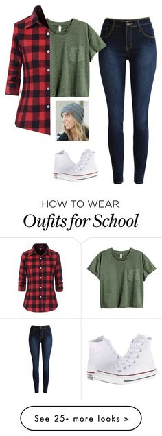 """School days"" by savyone2000 on Polyvore featuring Olivia & Jane and Converse"