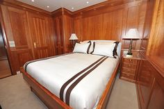 209' Royal Denship-Turmoil -Guest Stateroom - Custom Yacht Interior Design - Destry Darr Designs