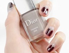 Polish Up: A Surprisingly Simple Nail Art Mani To Try This Weekend. #nail #tutorial #Dior #nailed #mani