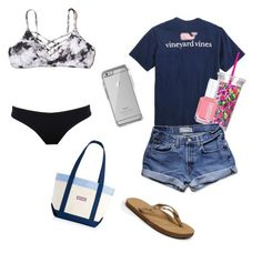 """""""summer essentials"""" by kstprep ❤ liked on Polyvore featuring UrchinDeep, Vineyard Vines, Hollister Co., Lilly Pulitzer, Essie, OtterBox, Abercrombie & Fitch and Rainbow"""