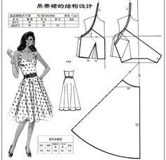 女式时装装结构设计 this is a nice pattern that I wish that I could read and have