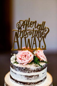 YES harry potter wedding cake topper