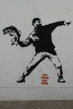 Banksy - let them eat fish