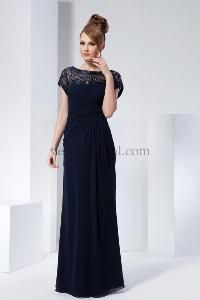 85f21cf4ca8 Elegant Modest Mother of the bride dress. Top can be lined Blue Wedding  Guest Dresses